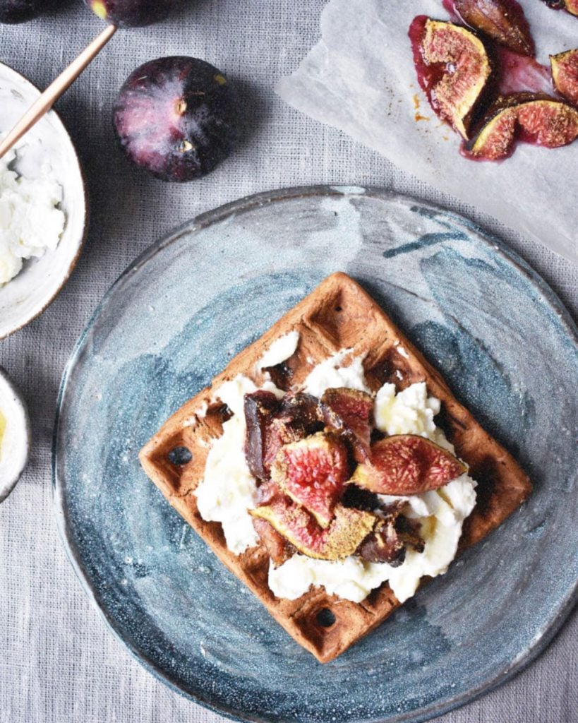 Sticky Baked Cardamom Figs and Oat Waffles By Eve Kalinik | Nutritional Therapist, Author + Consultant