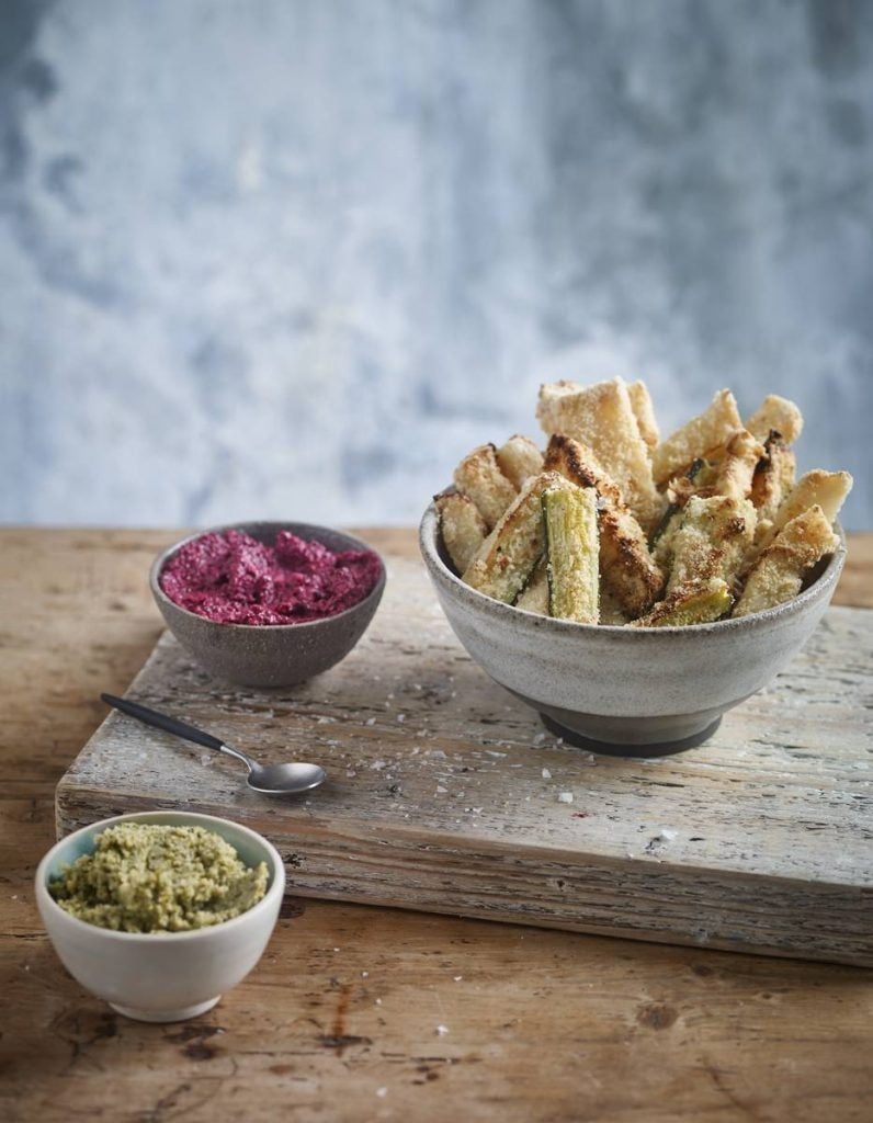 Celeriac and Courgette Crispy Fries Recipe By Eve Kalinik | Nutritional Therapist, Author + Consultant