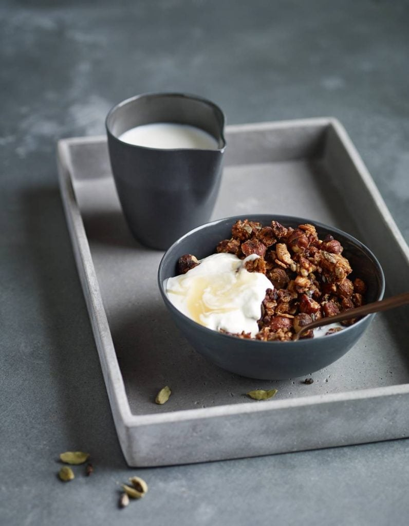Hazelnut, Cardamom and Cacao Granola Recipe By Eve Kalinik | Nutritional Therapist, Author + Consultant