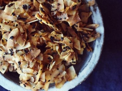 Sesame and Honey Coconut Chips Recipe By Eve Kalinik | Nutritional Therapist, Author + Consultant